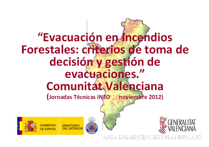 criterios evacuacion