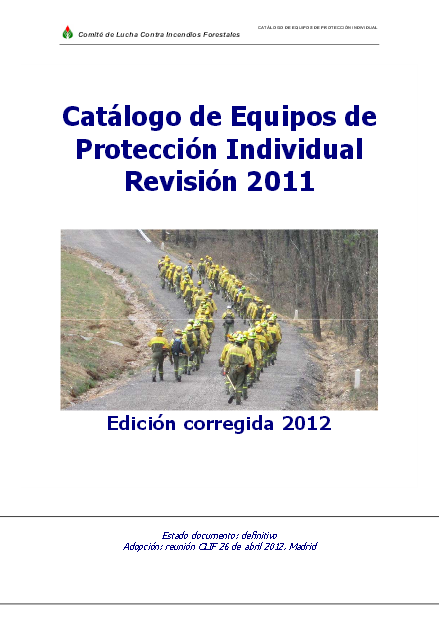 catalogo epi forestal