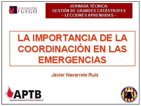 coordinacion emergencias